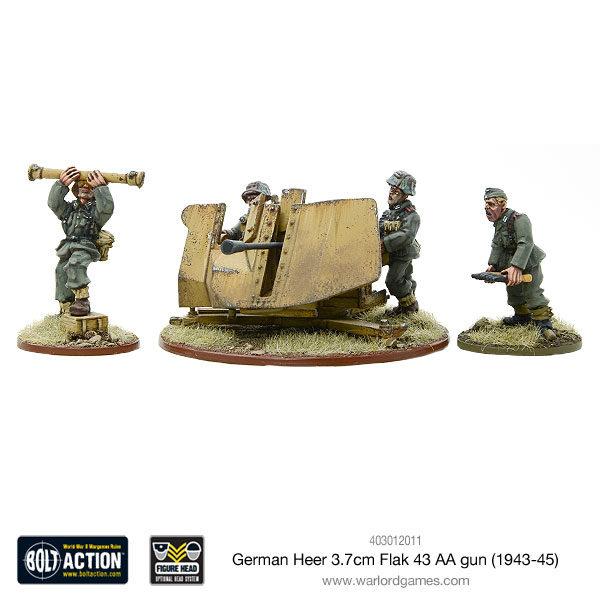 German Heer 3.7cm Flak 43 AA Gun