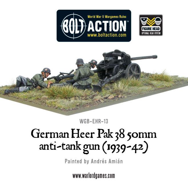 German 50 Mm Anti Tank Gun: New: German Heer PaK 38 50mm Anti-tank Gun (1939-42