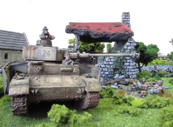Panzer IVH in village