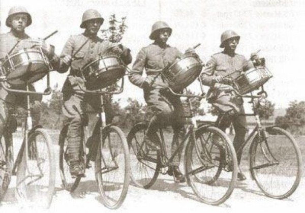 Drummers from Dutch Cycle Unit