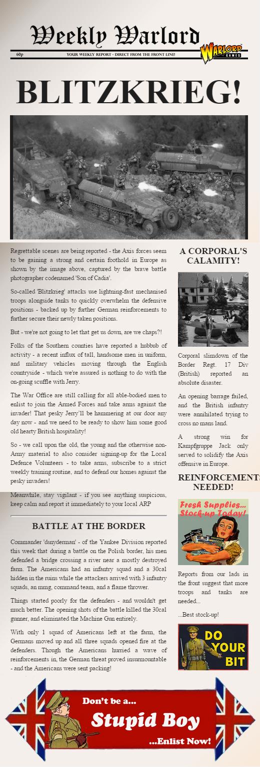 Blitzkrieg Newspaper