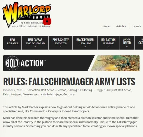 Fallschirmjager article