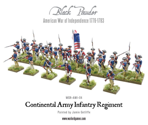 Box S Warlord Games Continental Infantry Regiment American War Of Independence