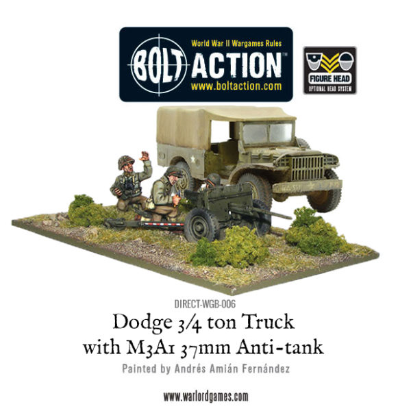 DIRECT-WGB-006 - Dodge Truck with M3A1 37mm Anti tank gun