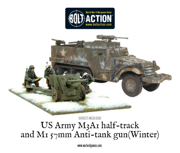 DIRECT-WGB-009 - US Army M3A1 half-track and M1 57mm Anti-tank gun (Winter)