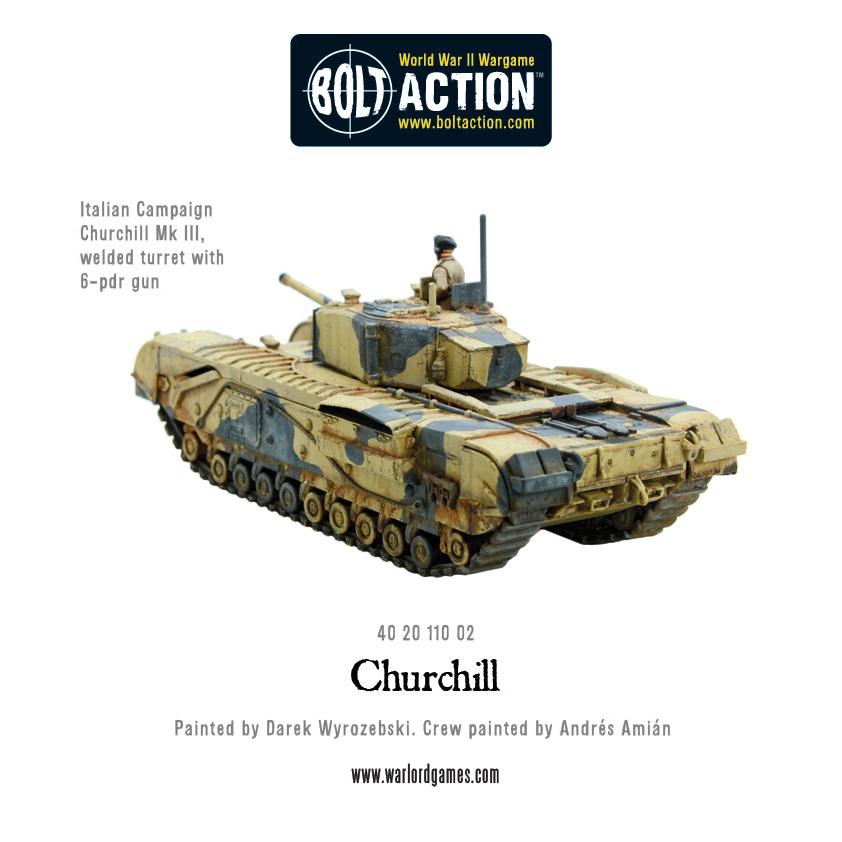 402011002 Bolt Action Churchill Tank Plastic