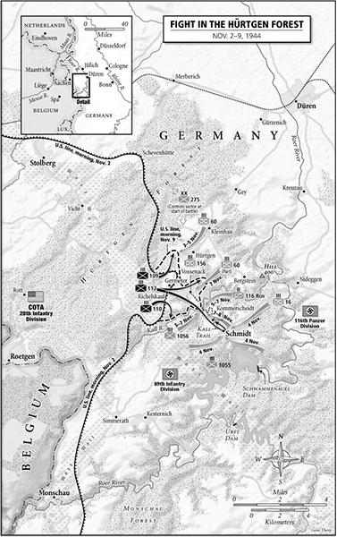 Hürtgen Forest map