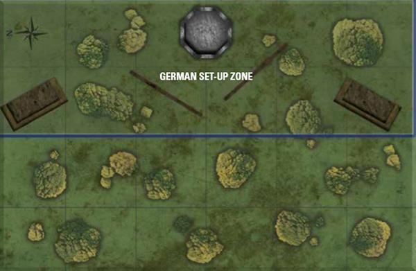 Hurtgen Forest set up map