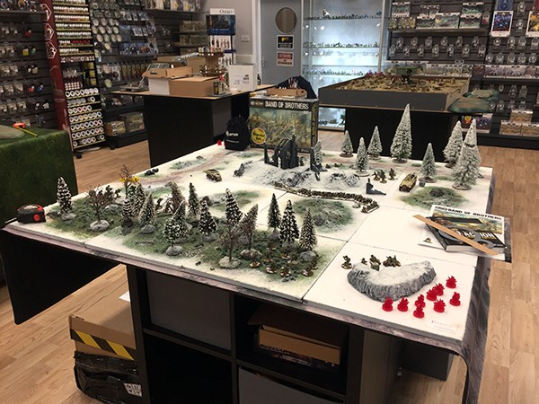Hobby Stores such as Warlord Games HQ Store