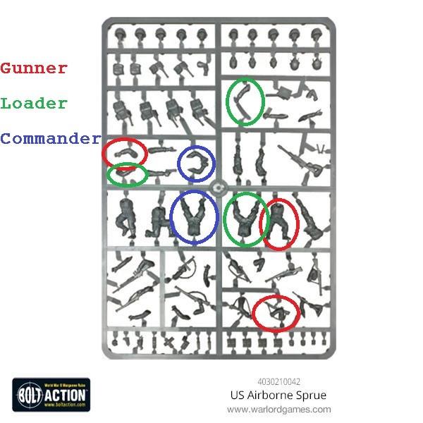 US_Airborne set Cmedium anti tank gun