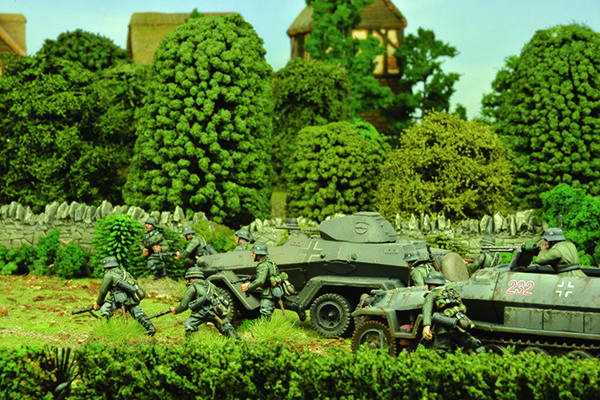 German forces push through the Home Counties countryside