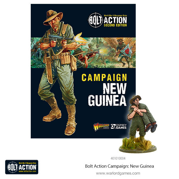 401010004 Bolt Action Campaign New Guinea 600x72 plus fig