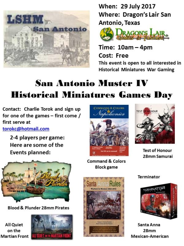 Event - SA Muster IV July 2017 flyer