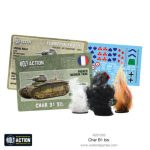 Char B1 bis cards, decals and markers