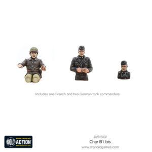 Char B1 bis plastic model kit commanders
