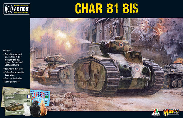 Char B1 bis plastic model kit box front