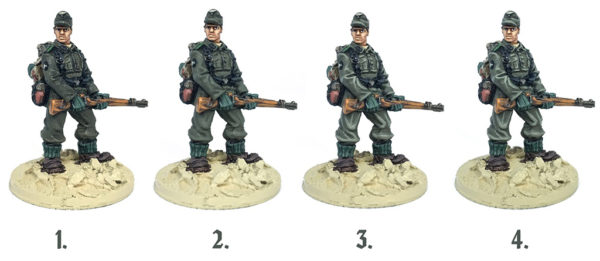 Stages of painting field grey