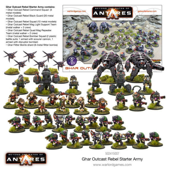 Ghar Outcast Rebel Starter Army