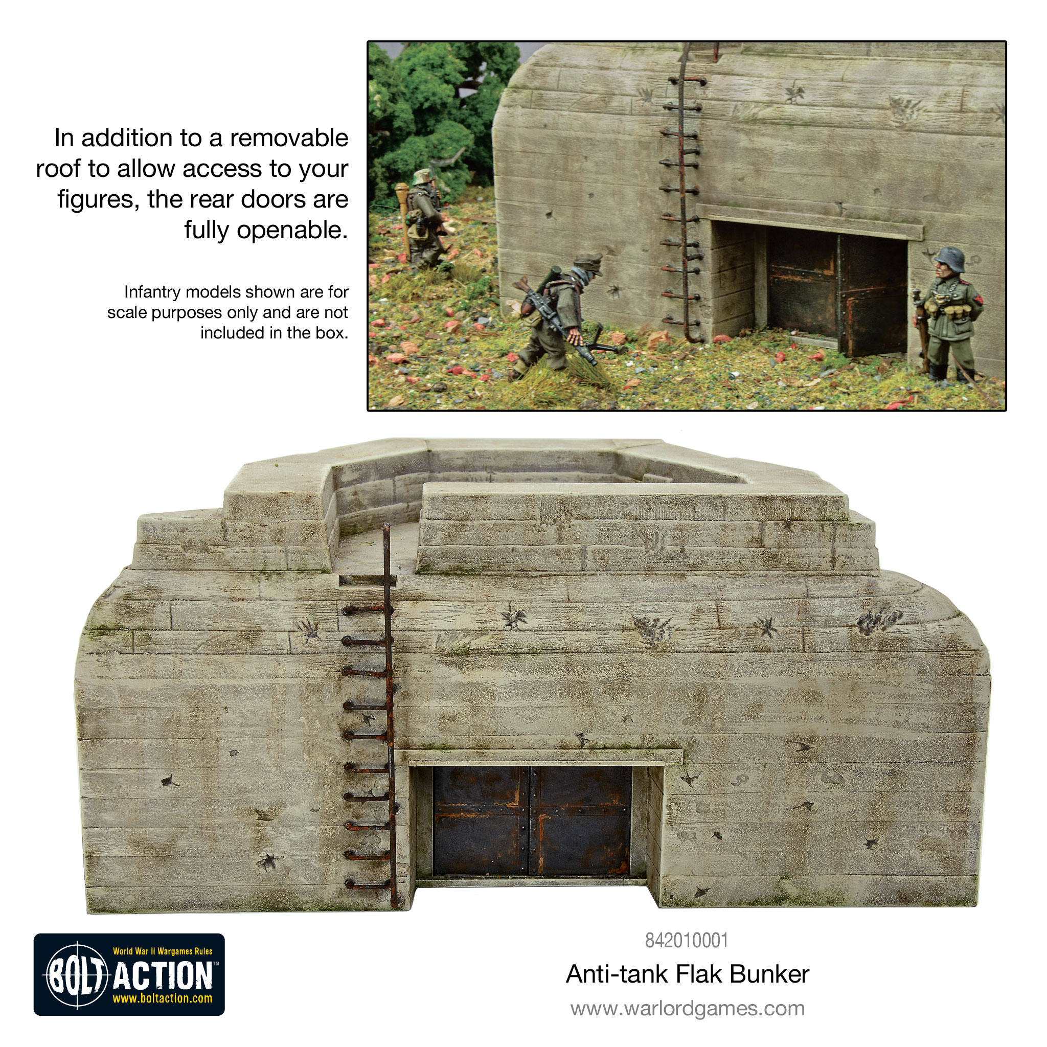 New Flak Bunker Plastic Terrain Warlord Games