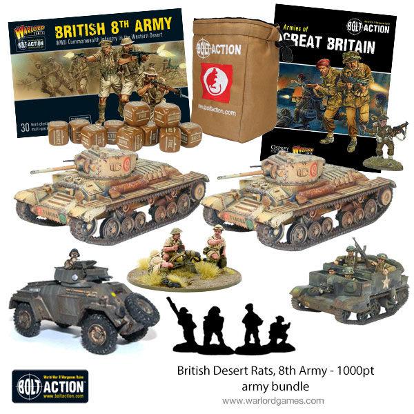 British Desert Rats 1000 point army bundle