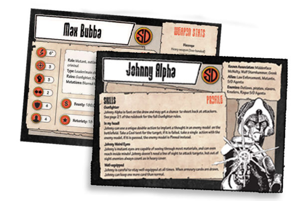 Strontium Dog Starter Set Character Cards Character Cards