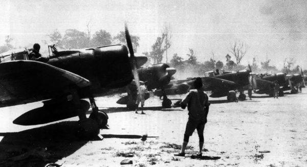 A6M3 Zuikaku prepare for takeoff from Rabaul