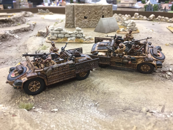 Pete's Battlegroup in a desert scene