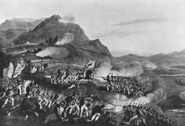 Contemporary illustration of the fighting at Busaco