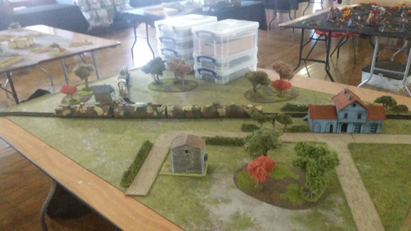 Bolt Action table with armoured train