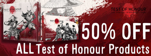 50% off all test of honour products