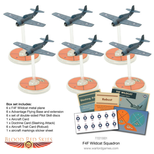 Blood Red Skies F4F Wildcat squadron contents
