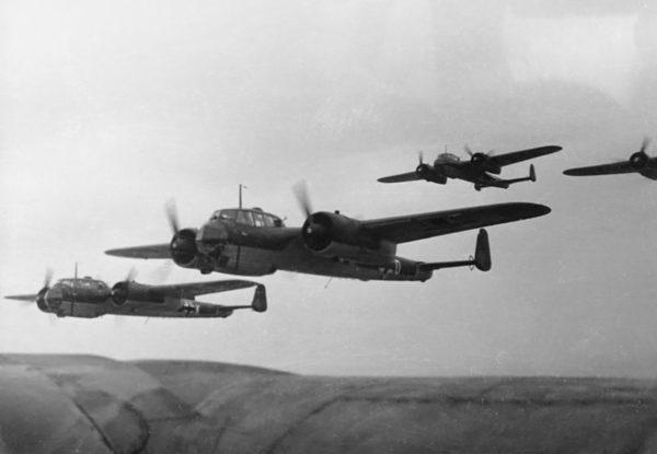 Luftwaffe Dornier 17 Light Bombers.