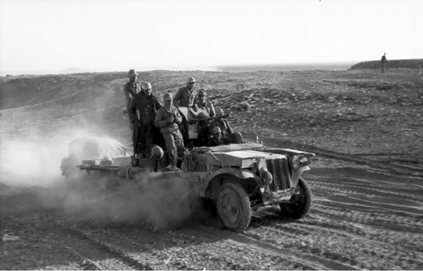 An SdKfz.10 of the 21st Panzer Division fitted with a 20mm cannon.