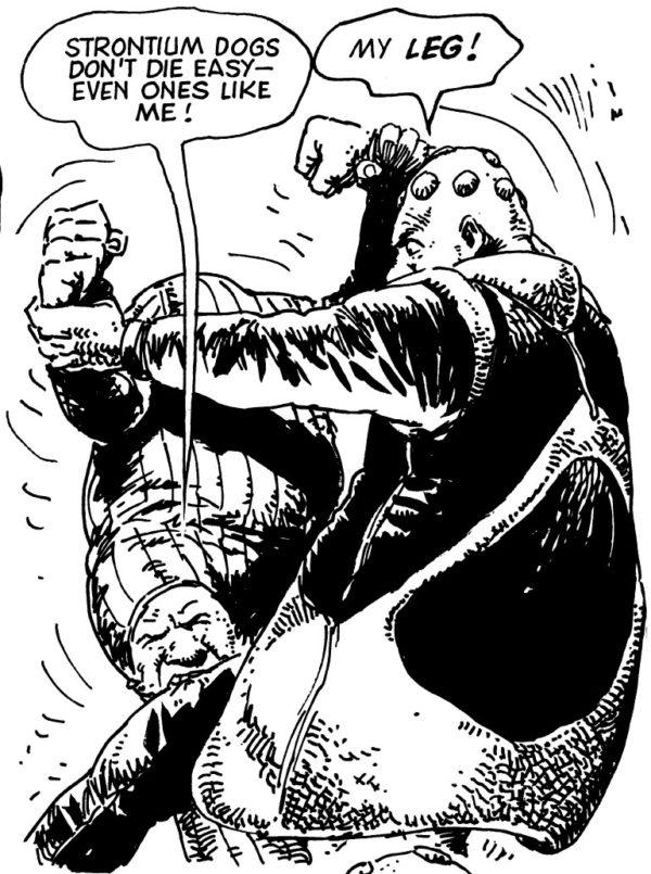 Kid Knee demonstrates his unorthodox fighting style.