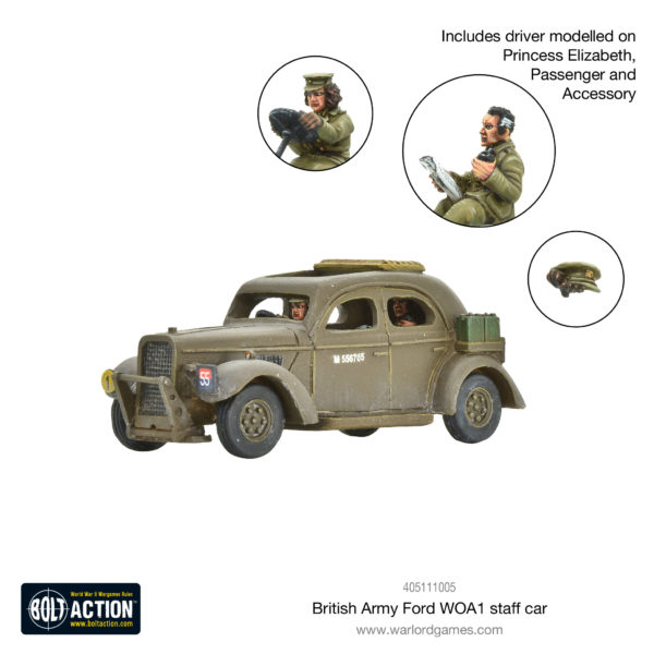 British Army Ford WOA1 staff car