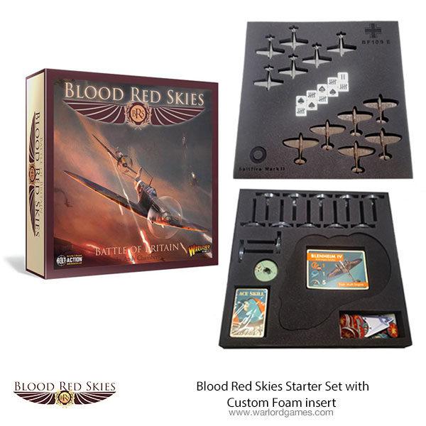 Blood Red Skies Custom Foam Insert with Game