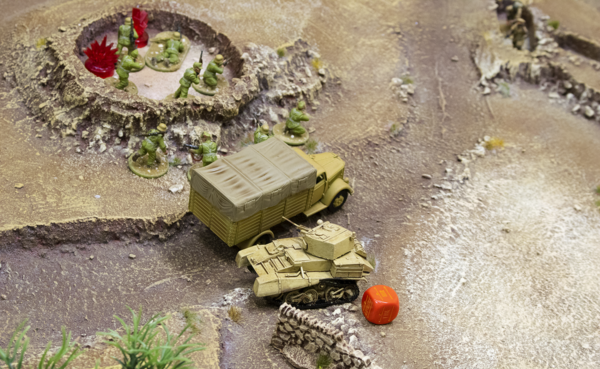 Tom's tank captures the southern objective.