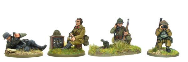 A selection of forward observers from some of our early war command blisters.