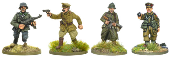 A selection of junior officers from some of our early war command blisters.