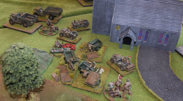 Arnhem: The Paras raid their drop canisters for supplies.