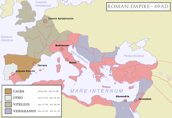 The Roman Empire during the Year of the Four Emperors