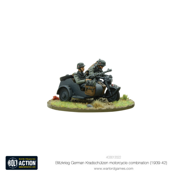Blitzkrieg German Kradschützen Motorcycle combination