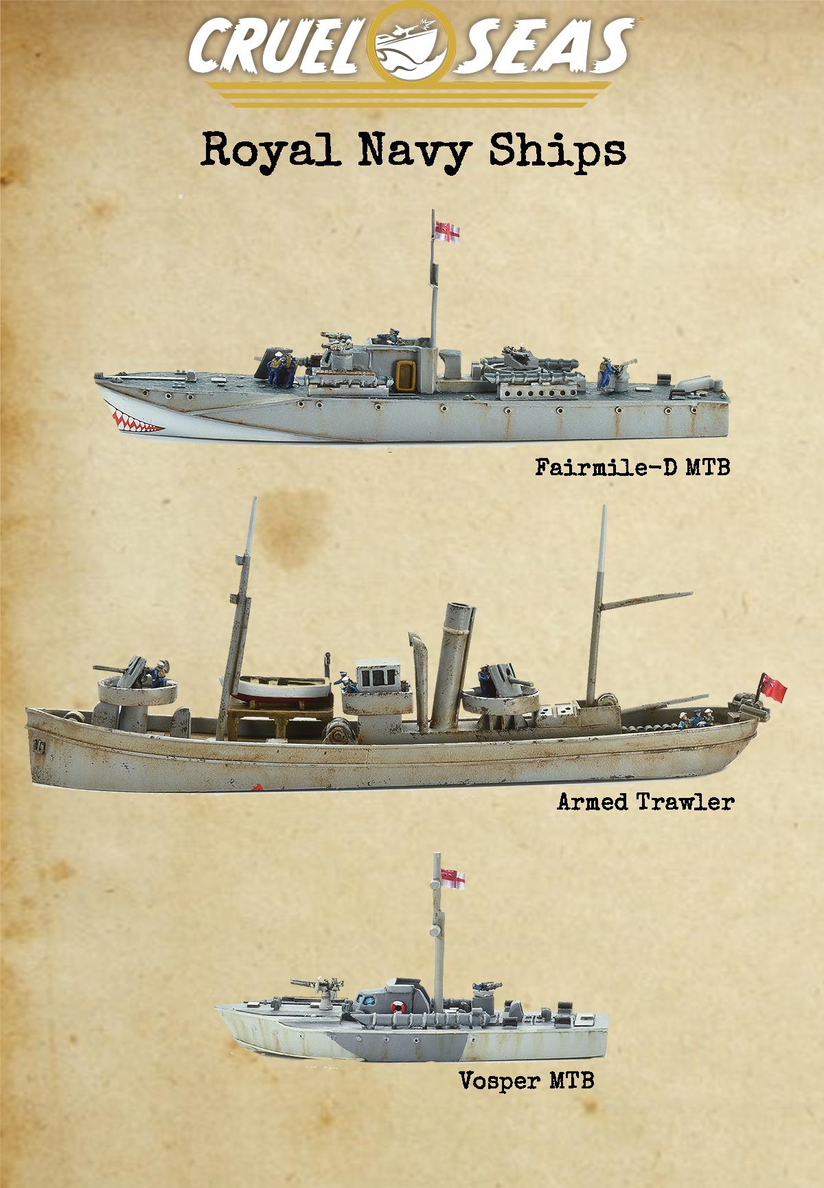 Cruel Seas Warlord Games Armed Trawler