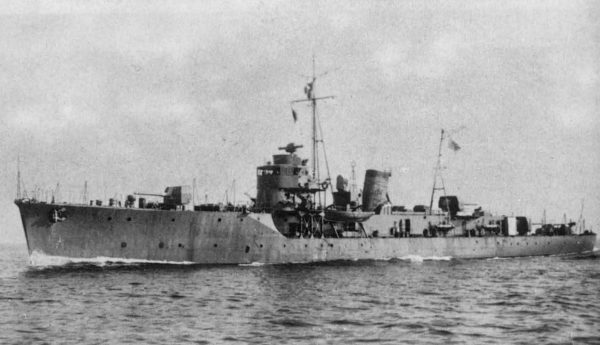 Imperial Japanese Navy escort ship Etorofu in 1943