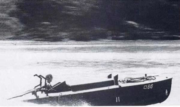 A Shin'Yo suicide boat begins its attack run! Imperial Japanese Navy