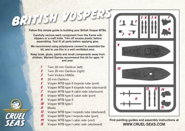 British Vospers – Cruel Seas Assembly Leaflet