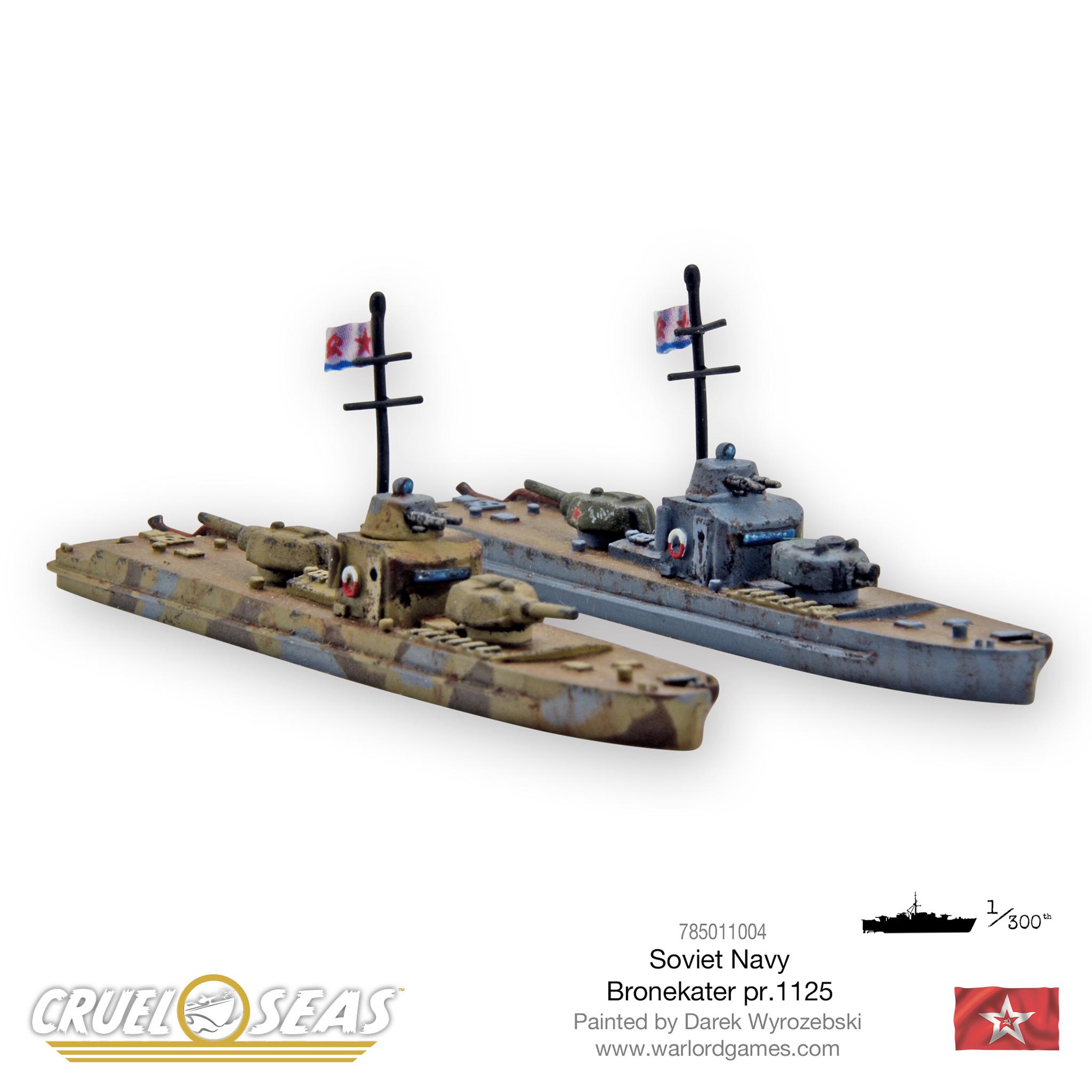Soviet D-3 MTBs £7.50 New Warlord Games Cruel Seas
