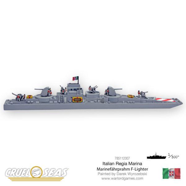 Picture of an Italian Regia Marina Marinefährprahm F-Lighter in 1:300th scale for Cruel Seas