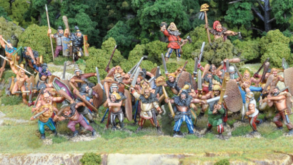 A Barbarian Warband emerges from the spring forests!