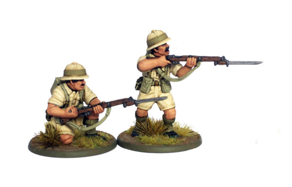 British Commonwealth Poms, showing two early war pith helmet heads